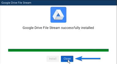 File Drive Stream App Installed
