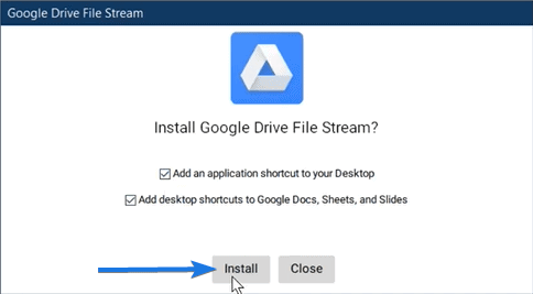 Install Google Drive File Stream