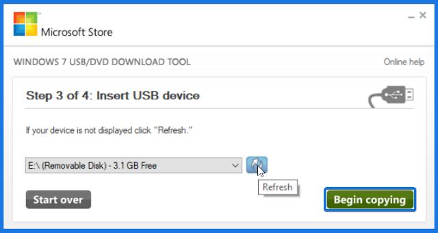 Insert USB device