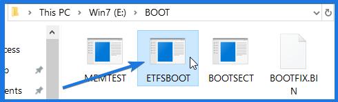 Boot Image File ETFSBOOT