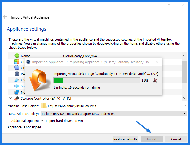 Configuring Virtual Machine