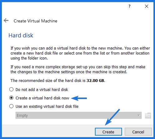 Create a Virtual Hard drive