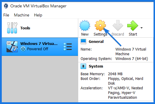 Win7 Virtual machine