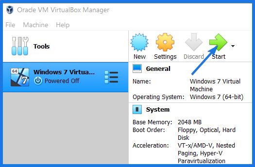 Windows 7 Virtualbox