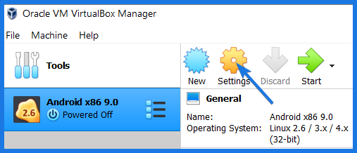 Virtual machine Settings