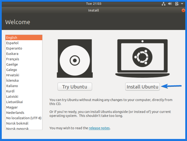 Virtualbox Ubuntu Installation