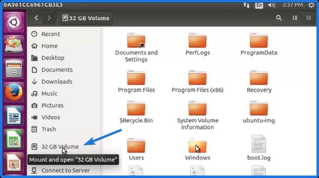 Windows Partition drive