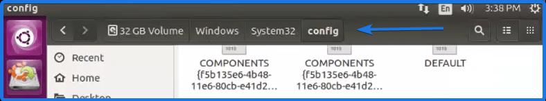 Windows System32 config