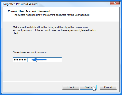 Current User Account Password