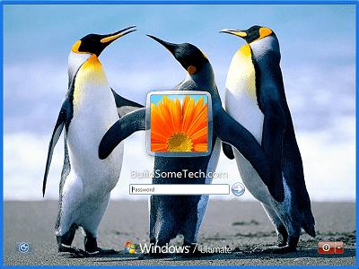 Custom Windows 7 Lock Screen Wallpaper