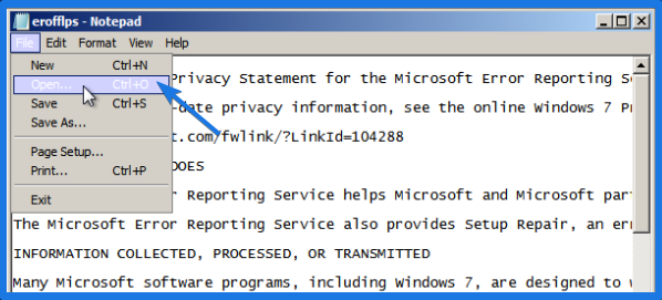 Windows 7 System Files