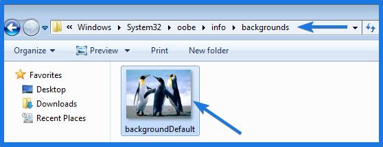 backgrounds folder