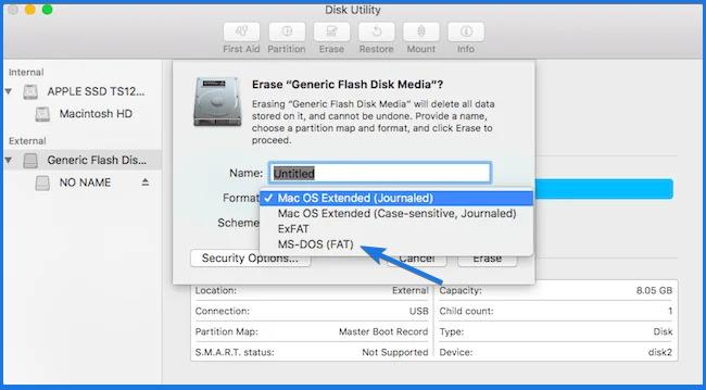 Convert Bootable USB to Normal in Mac