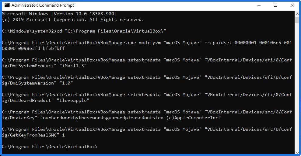 Adding Commands to Virtualbox Machine