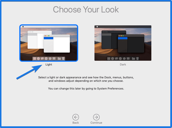 Choose MacOS Look