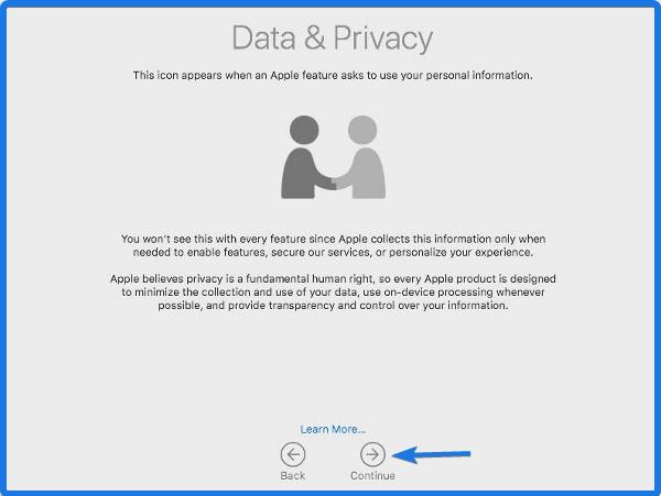 Data and Privacy settings