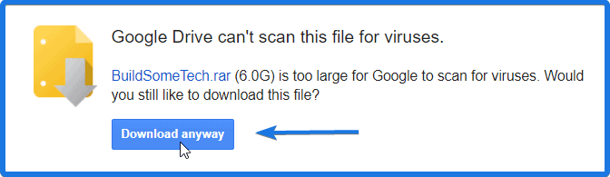 Downloading Google Drive Exceeded Limit File