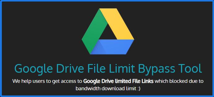 Google Drive Limit Bypass Tool