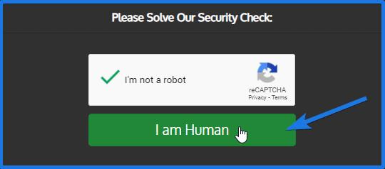 Security Check Box
