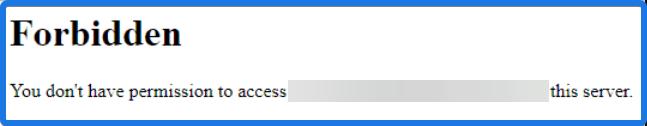 Google Drive Forbidden Error