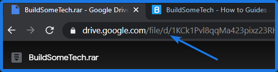 Google Drive Shared File URL