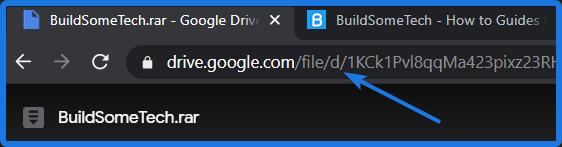 Google Drive Shared File URL