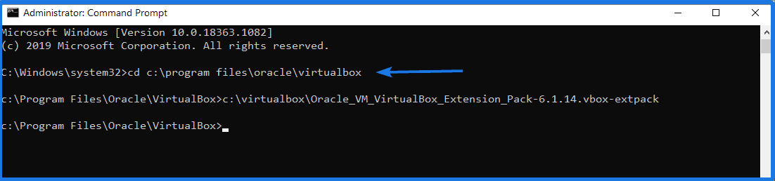 Install Virtualbox Extension Pack using VBoxManage Console