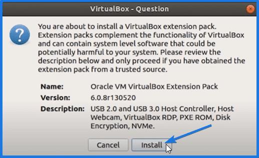Installing Oracle VirtualBox Extension Pack on Ubuntu