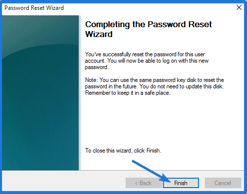Reset the Password using USB disk
