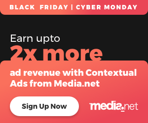 Black Friday Media.net 2x Deal