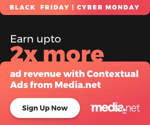 Black Friday Media.net 2x Deal