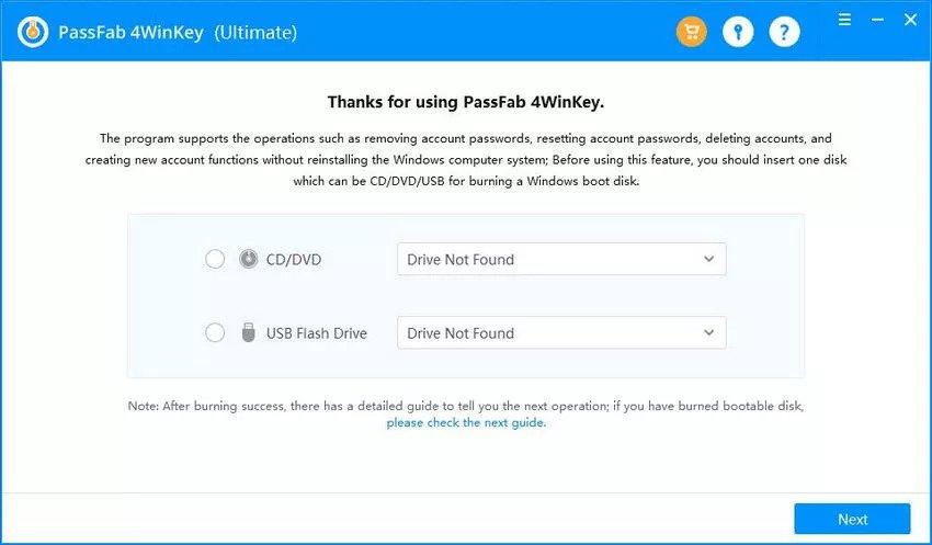 Install PassFab 4WinKey