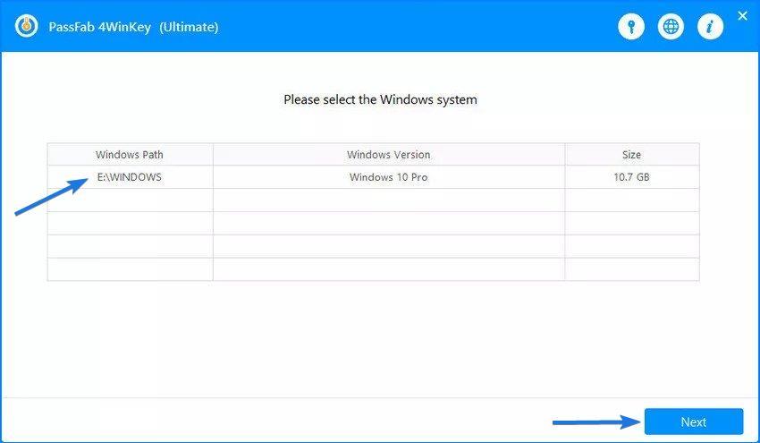 Select Locked Windows System