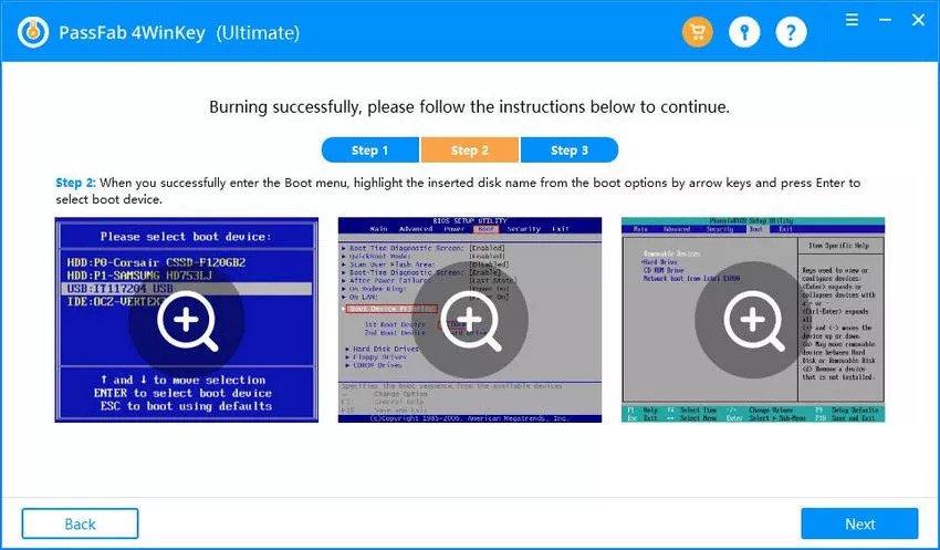 Set Boot menu as USB Drive