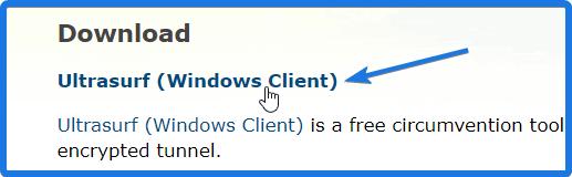 Download Ultrasurf VPN Client