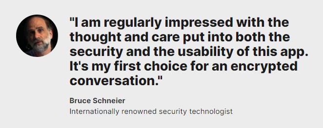 Bruce Schneier Signal Private Messenger Review