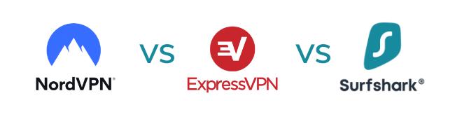 NordVPN vs ExpressVPN vs Surfshark