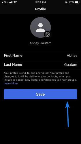 Setup your Signal Profile