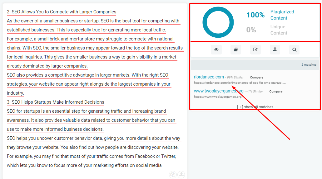 How Plagiarized Content Looks Like