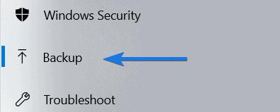 Backup option
