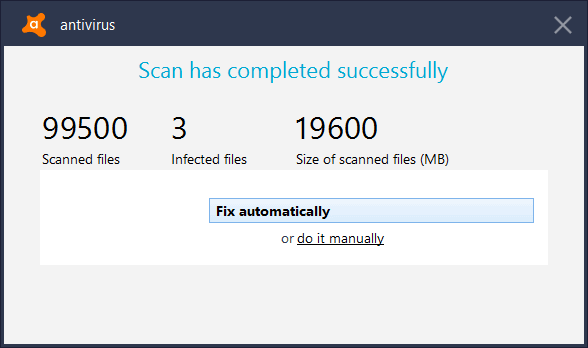 Delete Scanned Infected Files