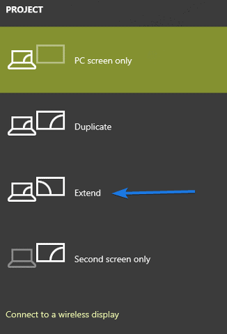 Extend and Connect to a wireless display