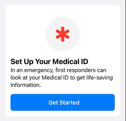 Use Apple Medical ID