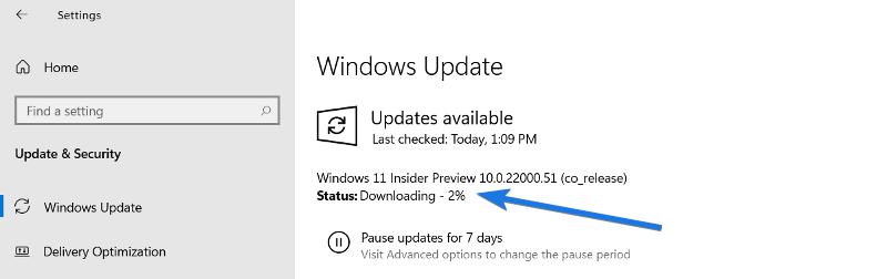 Download Windows 11 Update from Insider Preview Program