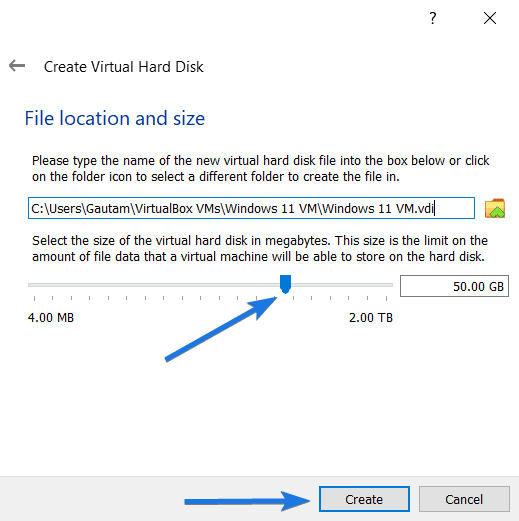Hard Drive File Location and Size
