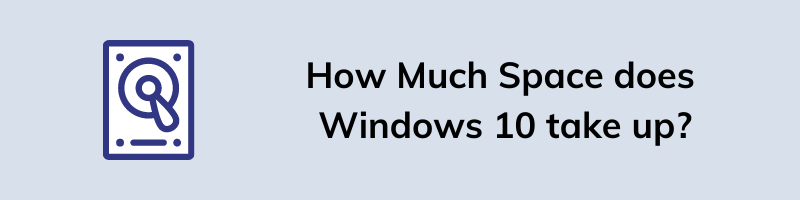 How Much Space does Windows 10 take up