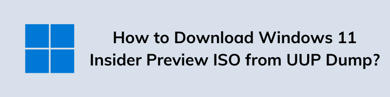 How to Download Windows 11 Insider Preview ISO from UUP Dump