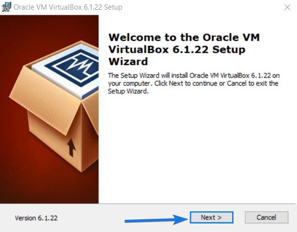 Install VirtualBox VM Application