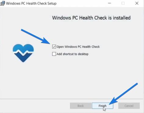 Open Windows PC Health Check
