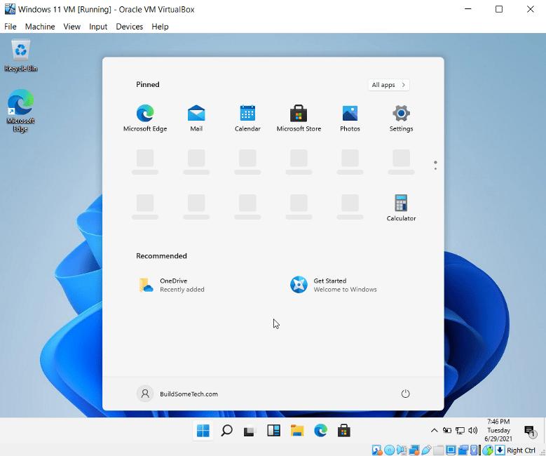 Running Windows 11 on Virtualbox